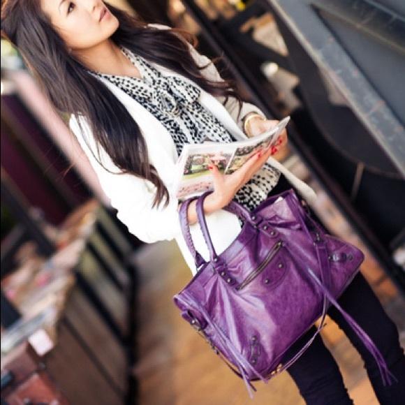 Balenciaga Handbags - Balenciaga Violet City Bag
